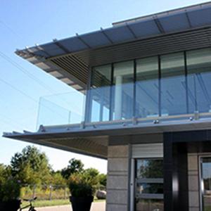 Szklana balustrada taras