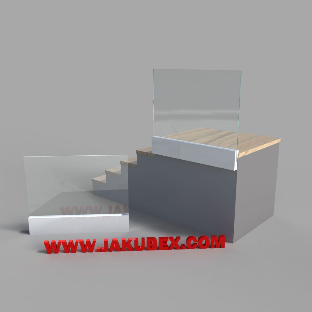 Balustrada szklana montaż liniowy